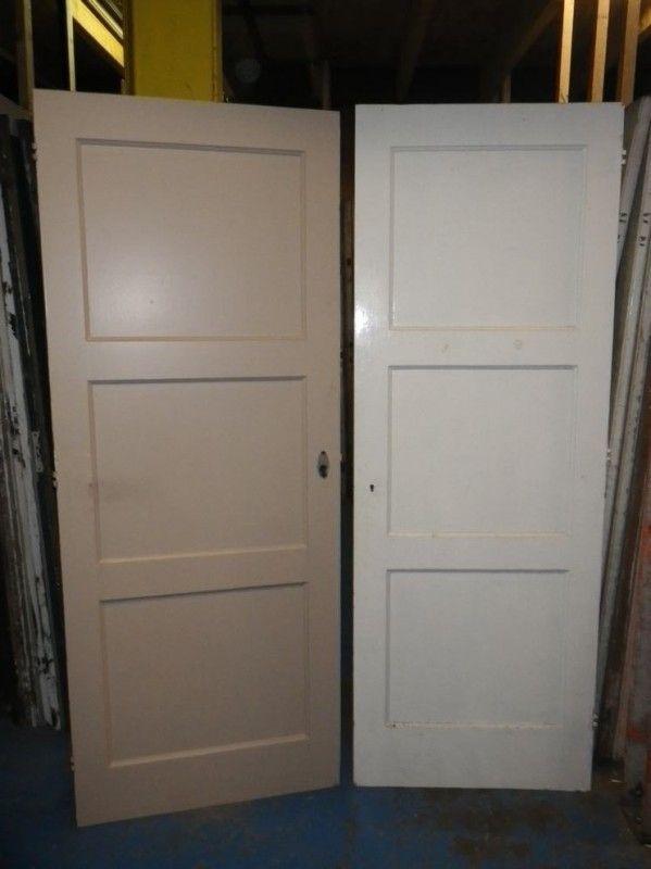nr. 4 drievlaks deuren jaren dertig (meerdere stuks)
