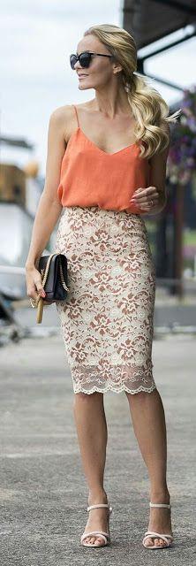 Pencil floral skirt