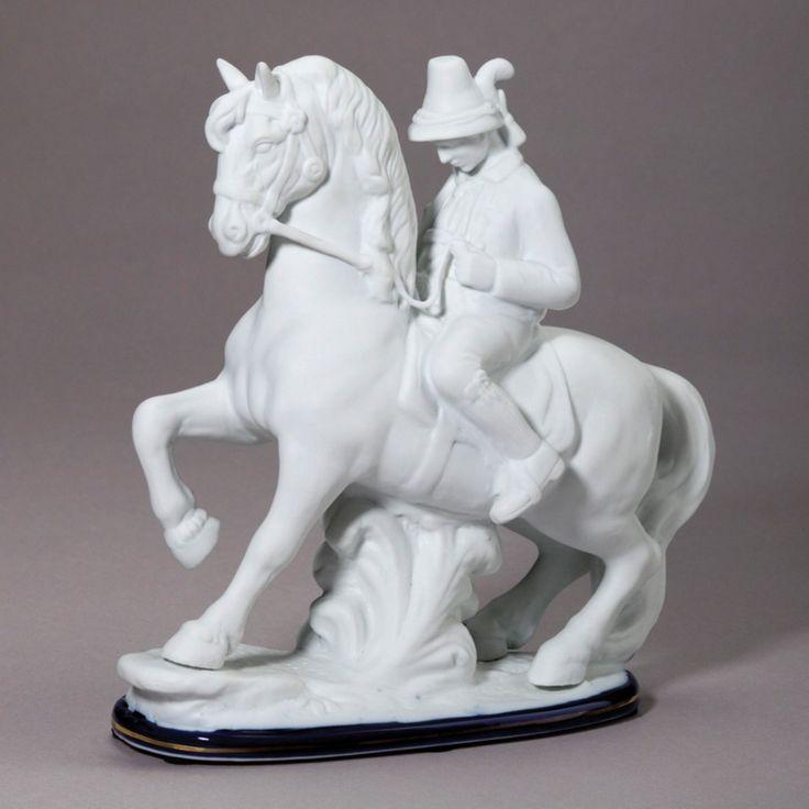 AA Importing Man on Horse Figurine - 20606