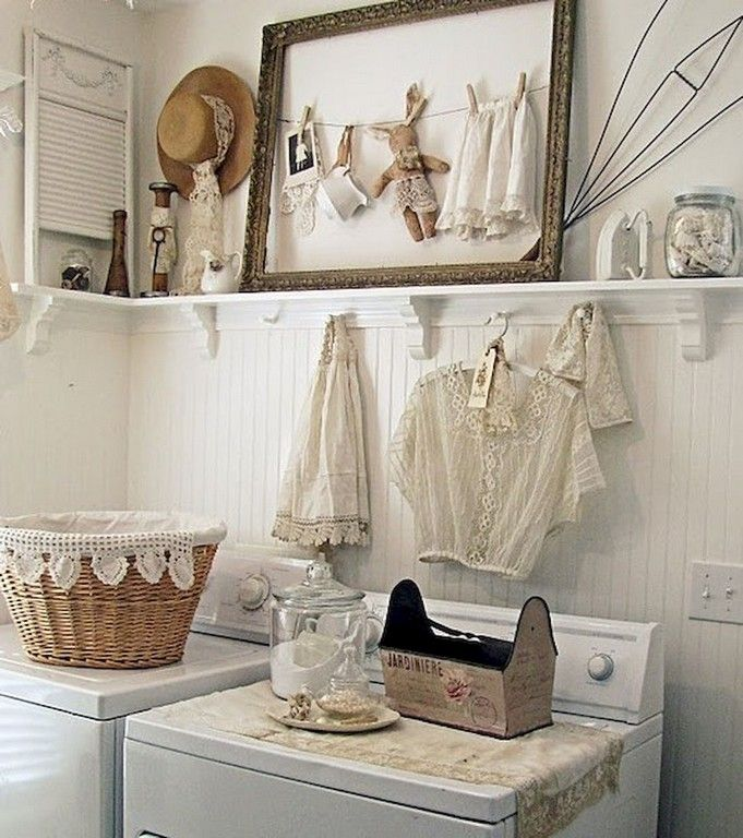 48 Awesome Vintage Laundry Rooms That Will Make You Want To Clean Laundryroom Laund Vintage Laundry Room Vintage Laundry Room Decor Shabby Chic Laundry Room