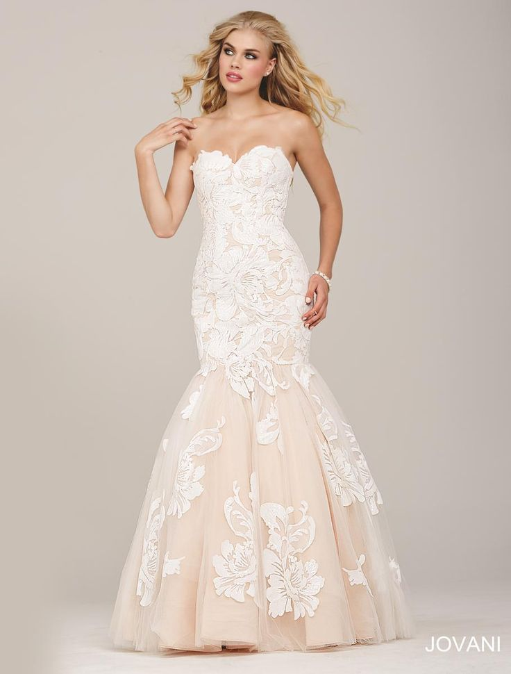 Check out the deal on Jovani 33531 Stunning Mermaid Dress with Tulle Skirt at French Novelty