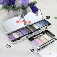 Nueva paleta de sombra de ojos maquillaje marca maquiagem 5 colores oso diamante brillante placa de la sombra de ojos de color tierra maquillaje nude Envío Gratis