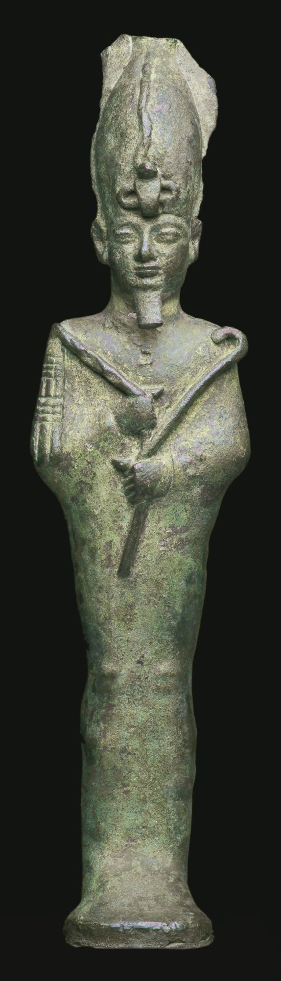 An Egyptian bronze figure of Osiris, 26th Dynasty, 664-525 B.C. | lot | Sotheby's: