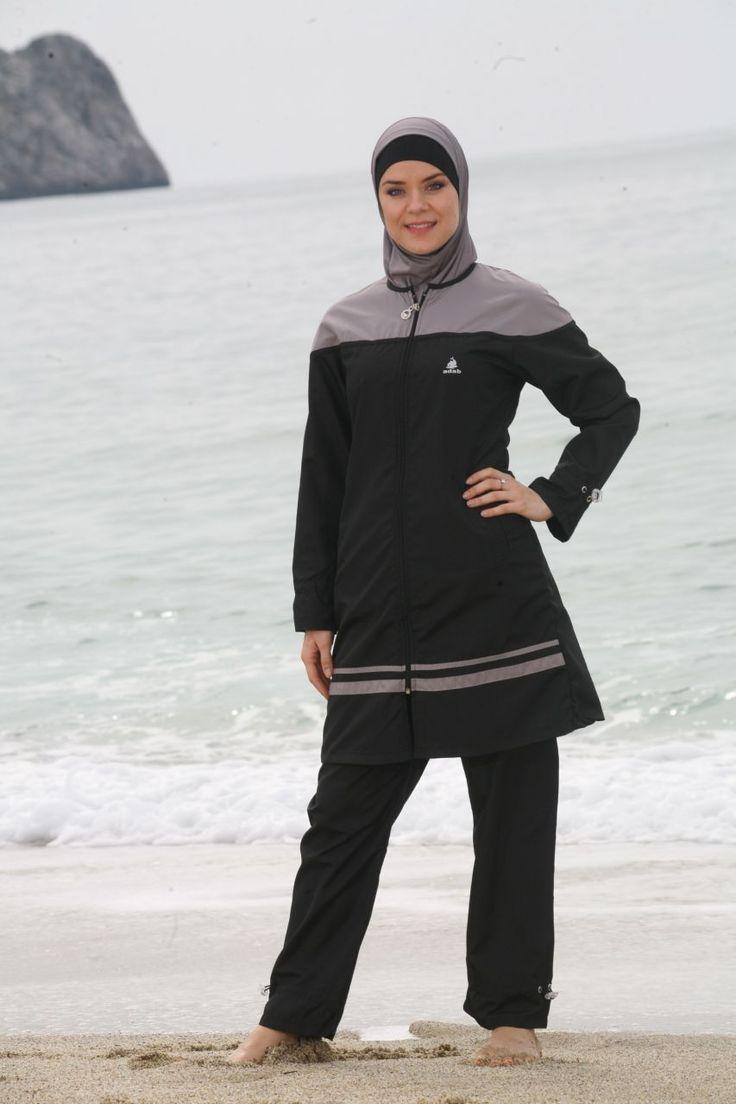 ADABKINI Mene Women's Swimsuit Full Cover Hijab Burqini Islamic Swimwear | eBay
