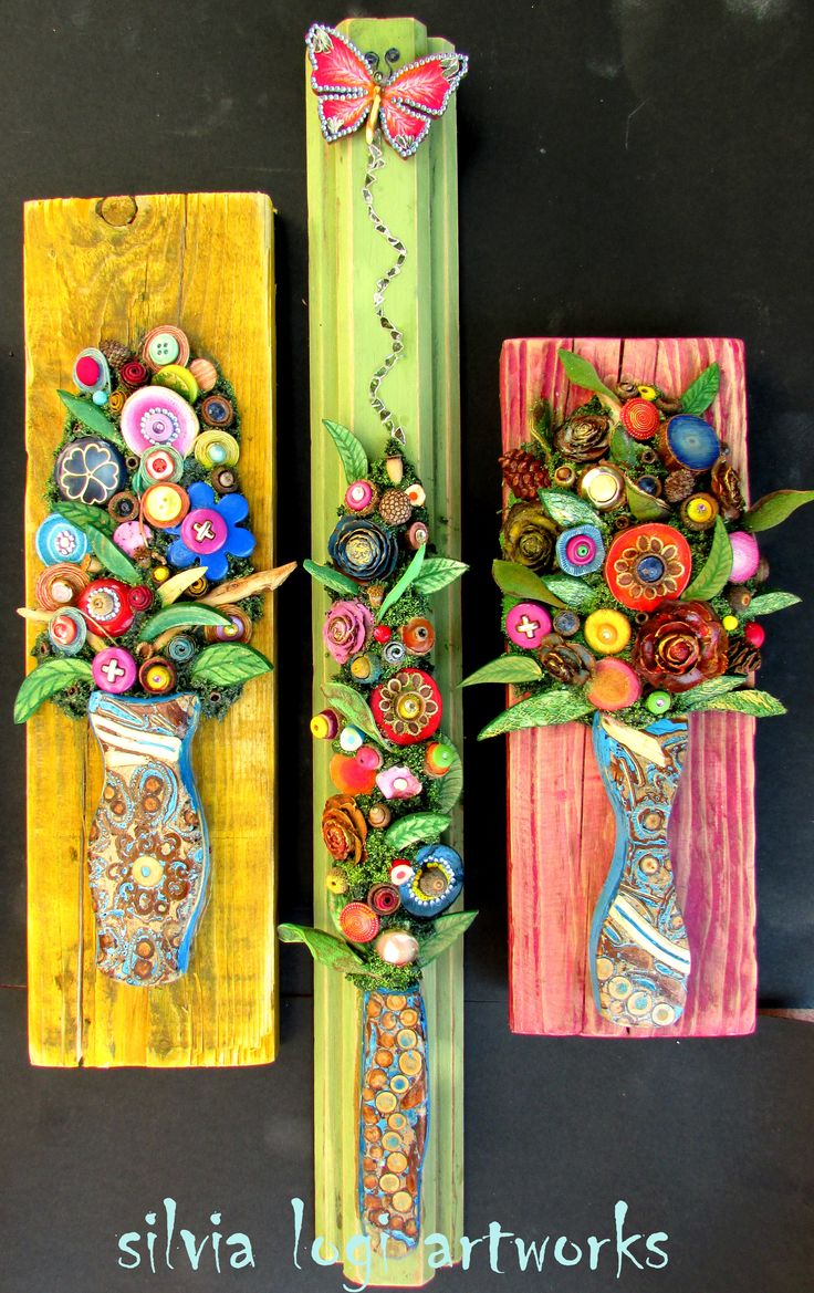 #flowers on #wood in #mixedmedia #mosaic see more on y FB pagehttps://www.facebook.com/pages/Silvia-Logi-Artworks/121475337893535?fref=ts