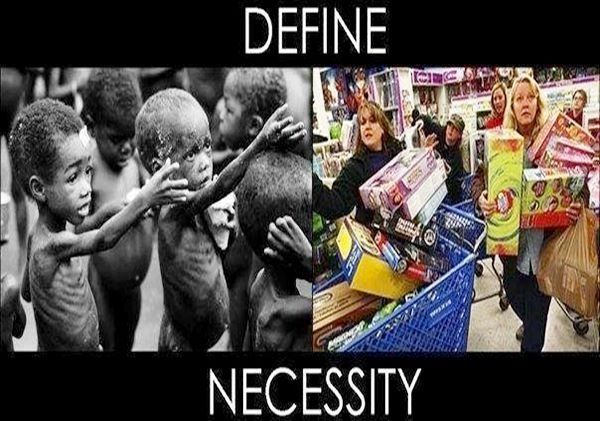 The insanity of mass-consumerism.