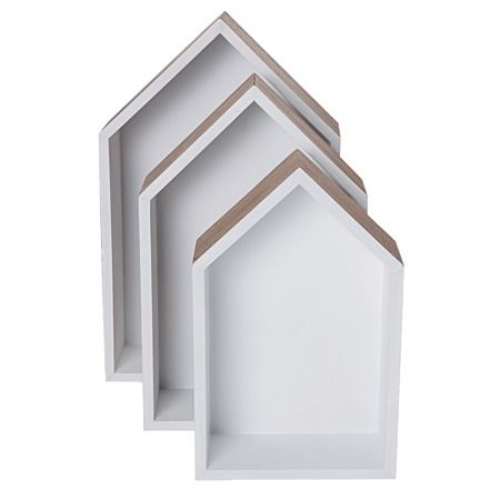 Blanco House Shelves Set 3 Piece