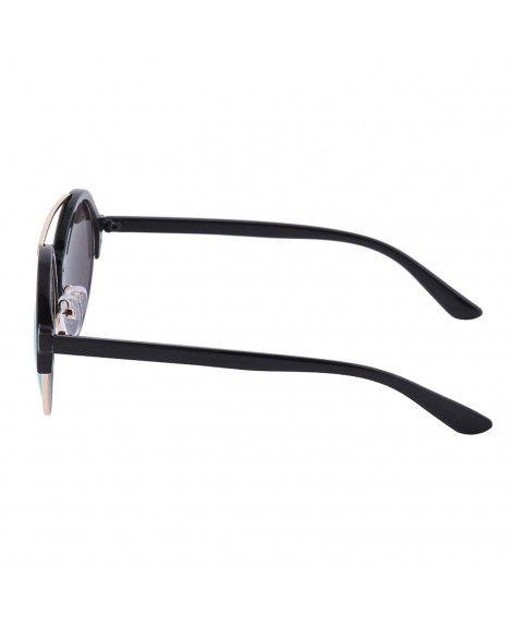 074b1c1eed6 Modern Ladies Flat Lens Round Mirror Wayfarer Sunglasses - Black ...
