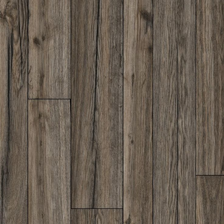 Multi-Width Rustic Hickory 13.2 ft. Wide x Your Choice Length Residential Vinyl Sheet Flooring, Multi-Width Dark Oak Wood Finish