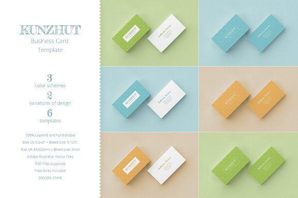 Kunzhut Business Card Template Business Card Template Business