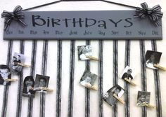 LOVE this with actual pictures!! birthday board