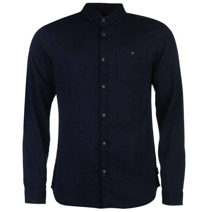 Jack and Jones | Jack and Jones Originals Wilder Long Sleeve Shirt | Mens Shirts 11£ si pe negru
