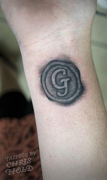 Wax Seal Tattoo A-S