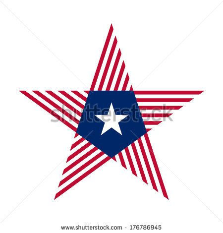 The Abstract star with Liberia flag colors and symbols