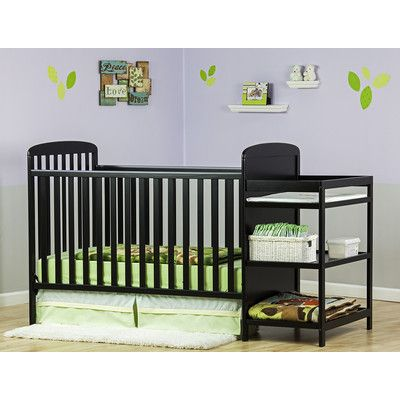 Dream On Me Crib N Changer Convertible Crib And Changing Table Combo  Finish: Black 678