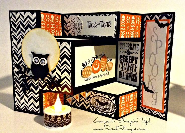 Stampin' Up! Owl Punch Halloween card idea