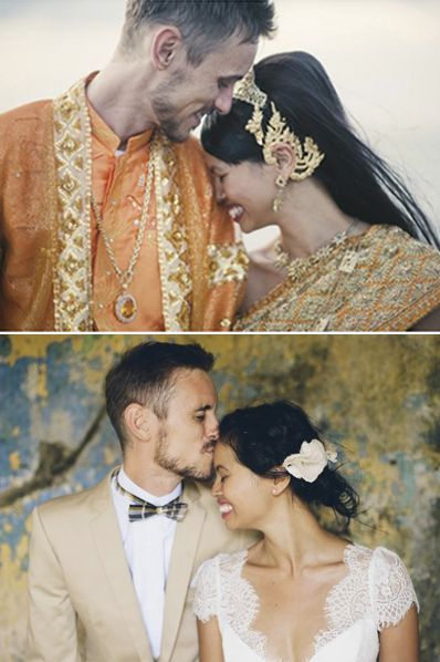 (via thelane.com) Photography by Natalie McComas| Cambodian Wedding | Cambodian-Australian designer Nataly Lee honors her heritage with a stylish Cambodian wedding (~3 day ceremony consolidated into 1 day) and a Western ceremony the day after. Inspiration for her wedding and location came from the beautiful seaside of Kep with its French colonial history.