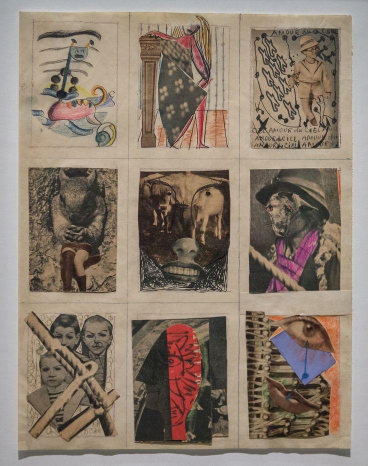 Dessin collectif 1940 André Breton, Victor Brauner