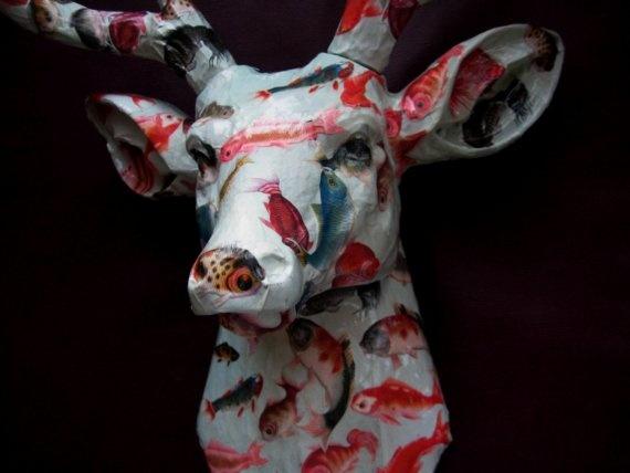 Khoshbin resin deer head