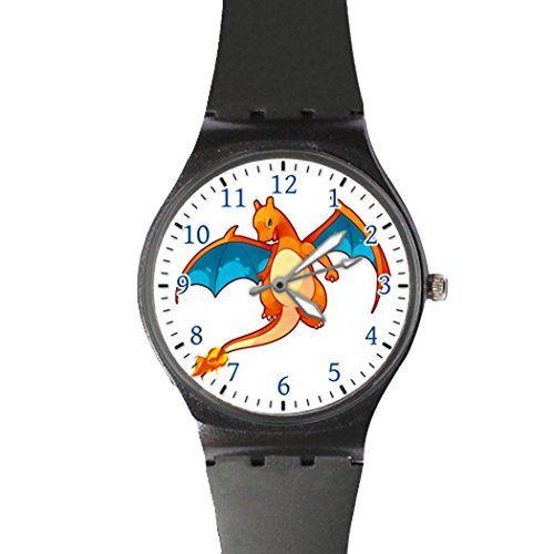 Pokemon Go Flying Charizard Classic Sport Watch with Black Band – Pokemon Watch