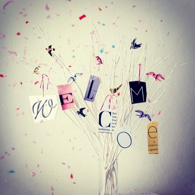 やっぱりこのウェルカムツリーは可愛い♡ #ウェルカムツリー#枝#木#ウェルカム#結婚式 #welcometree#tree#item#interior#welcome#wedding#guest#performance#paper item