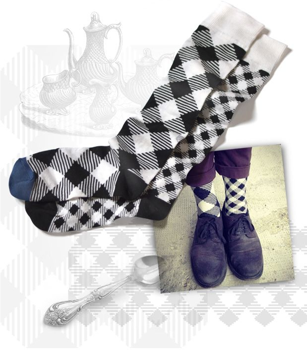 George PicNic socks | Light drawer | Oybō: untuned socks for smart feet