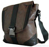 Pánská crossbody taška 7135-2 šedo-hnědá