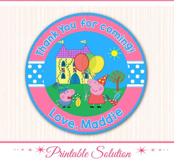 Peppa Pig Tags Peppa pig Stickers Peppa Pig by PrintableSolution