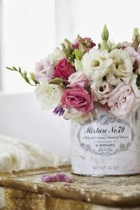 You might already know that I have a huge love of fresh flowers-and I also have a love of creative ways to display them.. From buckets, to copper mugs, to vintage cordial glasses and even garbage cans-...