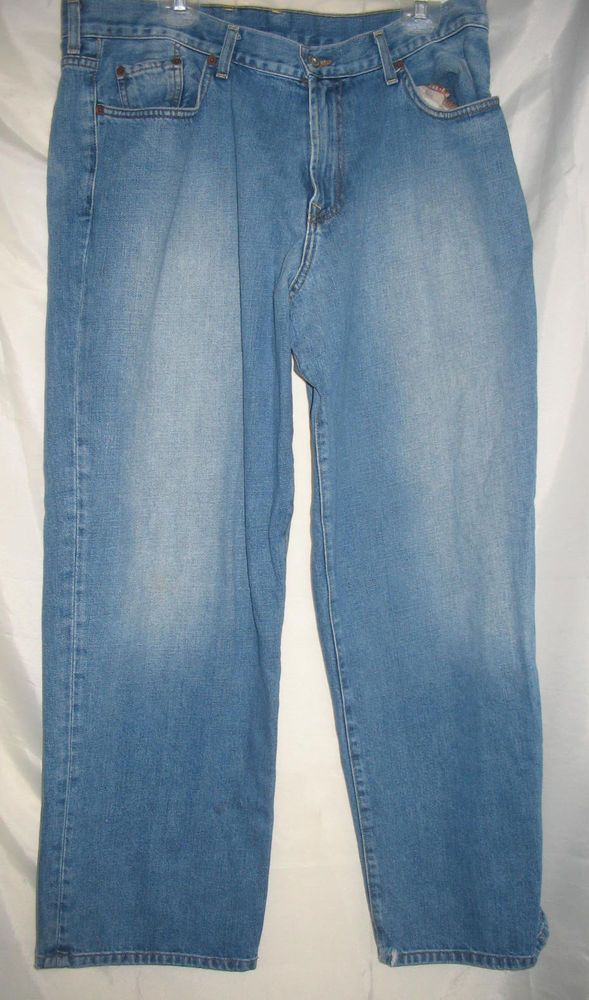 "LUCKY BRAND  Jeans MENS  Classic Relaxed   USA 100% cotton  37.5"" x  29"" #LuckyBrand #Relaxed"