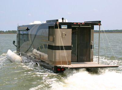 The Terra Wind is an amphibious motor home from Cool Amphibious Manufacturers International LLC