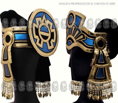 Tocados para traje de azteca