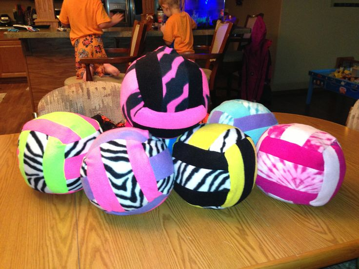 Volleyball pillows for senior night