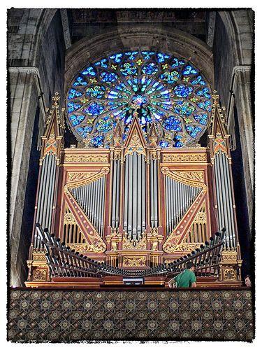 Órgano iglesia Sta Eulalia. Palma, Mallorca