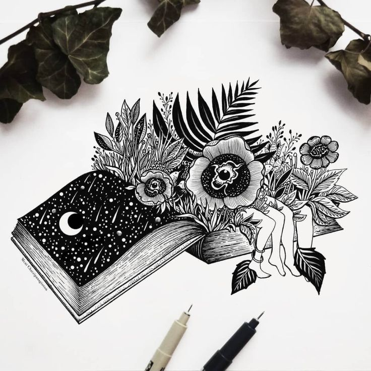Surreal Black And White Ink Drawings