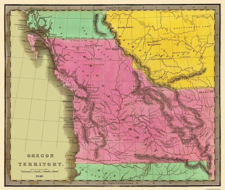 Old State Map - Oregon Territory - Greenleaf 1840 - 27.19 x 23   eBay