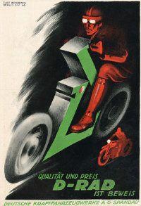 (MotoDRad) Рекламный плакат 20 х 30 см.