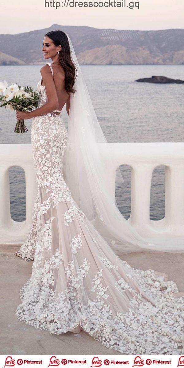 Dress Cocktail 2019 Robes De Mariée Sirène Avec Bretelles