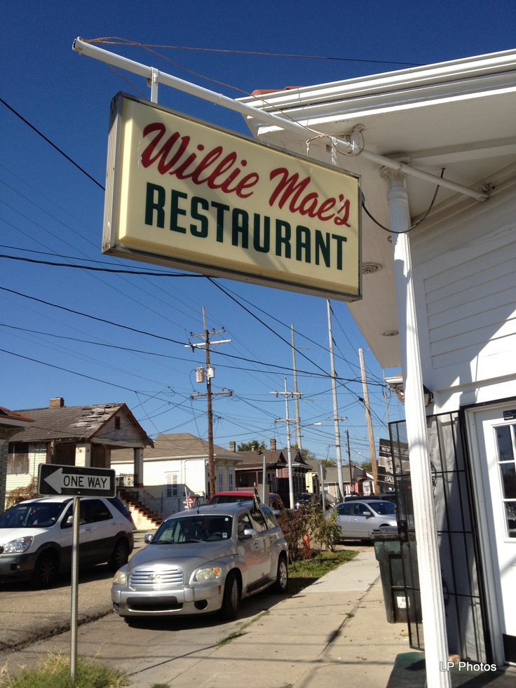 New Orleans - Willie Mae's Scotch House  THE BEST fried chicken ever! And the potato salad tastes just like my French Grandma used to make!