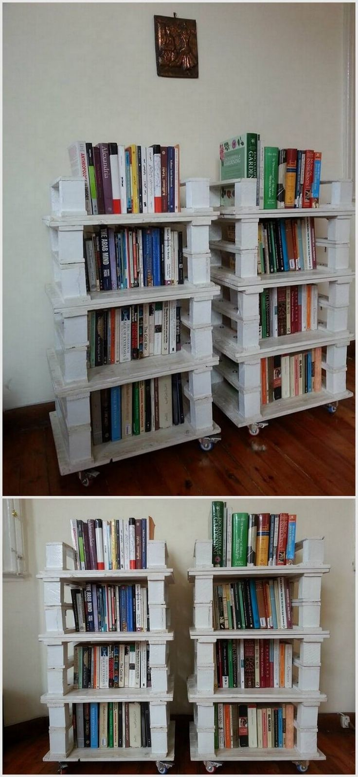 If you are a book lover then you might have lots of books at home. Books should be placed in an organized manner and for this reason; you might need this project of recycled pallet woods. We have made four racks in each project.