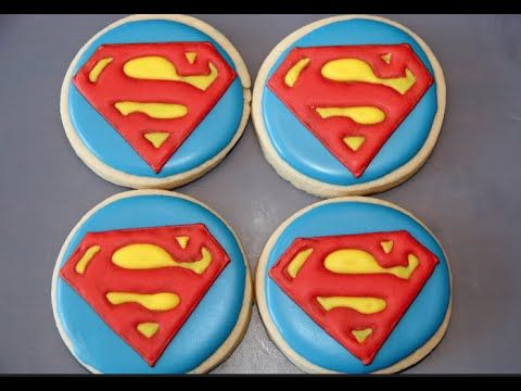 Superman cookies - YouTube