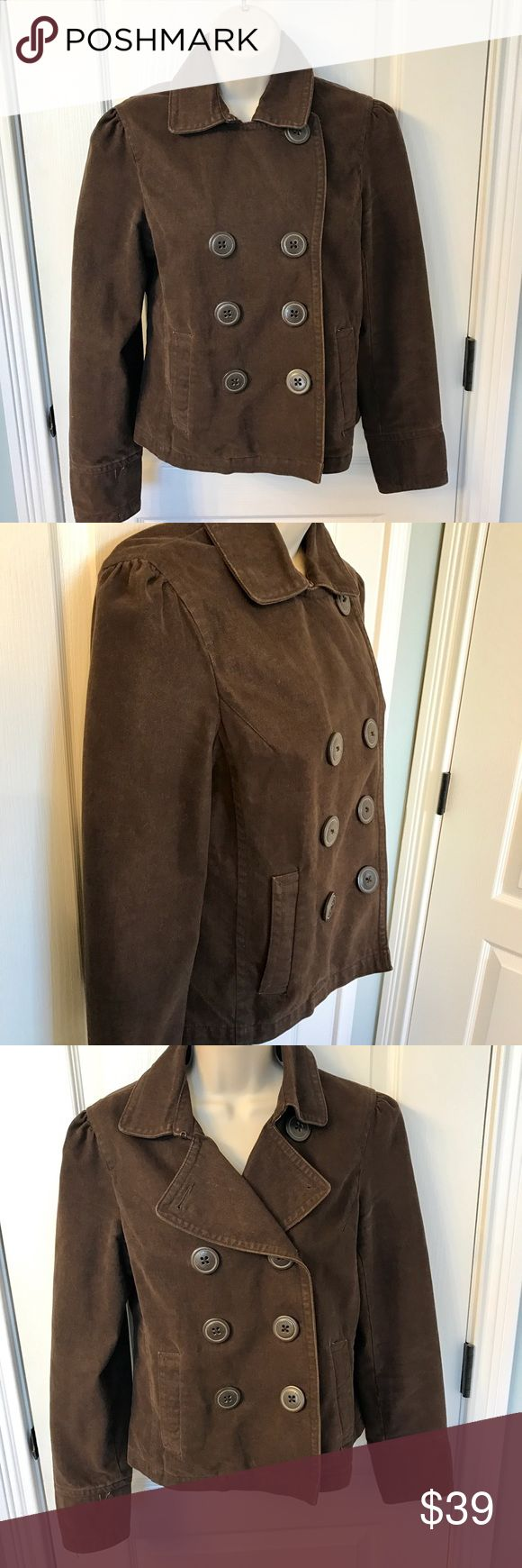 EUC American Eagle Outfitters Brown Peacoat! ❤ EUC American Eagle Outfitters Brown Peacoat! ❤.  This jacket has hardly been worn! 100% Cotton and very versatile and trendy!  😀 American Eagle Outfitters Jackets & Coats