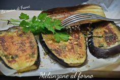 Una ricetta super veloce per delle gustose melanzane al forno con pochi grassi .ottime come contorno o per farcire un panino vegetariano!
