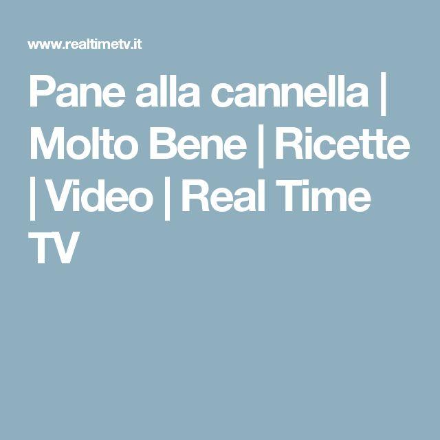 Pane alla cannella   Molto Bene   Ricette   Video   Real Time TV