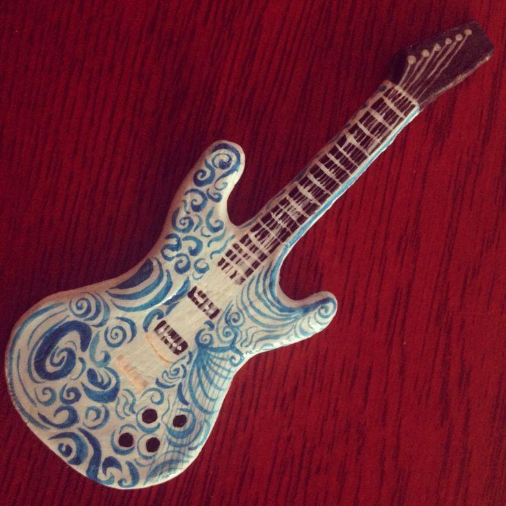 Electric guitar, clay craft.