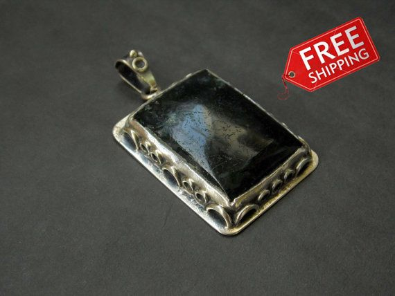 Moss agate pendant by JewellByMe on Etsy