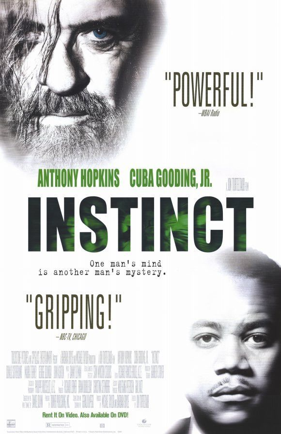 Instinct 1999 Movie Poster 27x40 Used Donald Sutherland, Anthony Hopkins, Cuba Gooding Jr