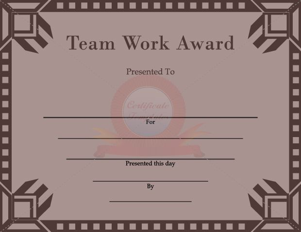 team work certificate certificate templates