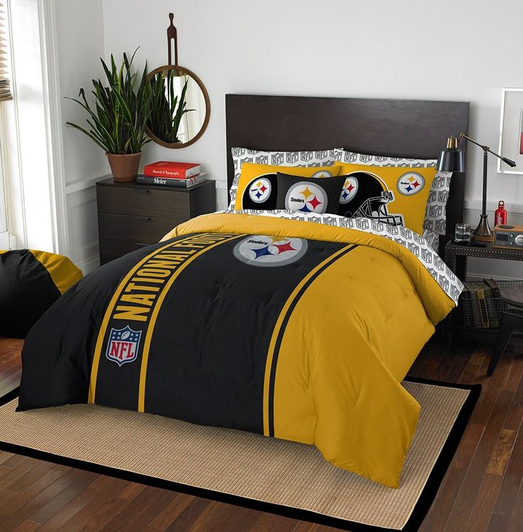 Amazon.com : Pittsburgh Steelers Soft And Cozy Bed In A Bag Set : Sports
