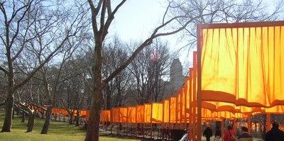 The beautiful orange gates of NYC